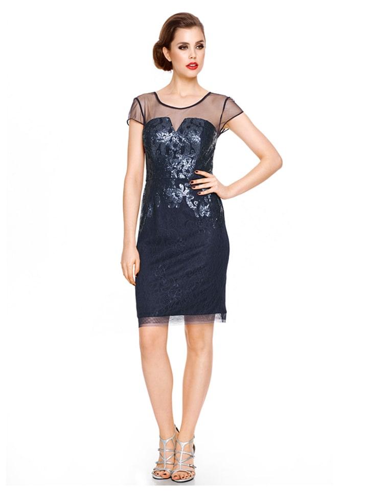 ashley brooke event jurk donkerblauw. Black Bedroom Furniture Sets. Home Design Ideas